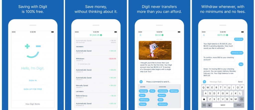 Digit mobile app savings