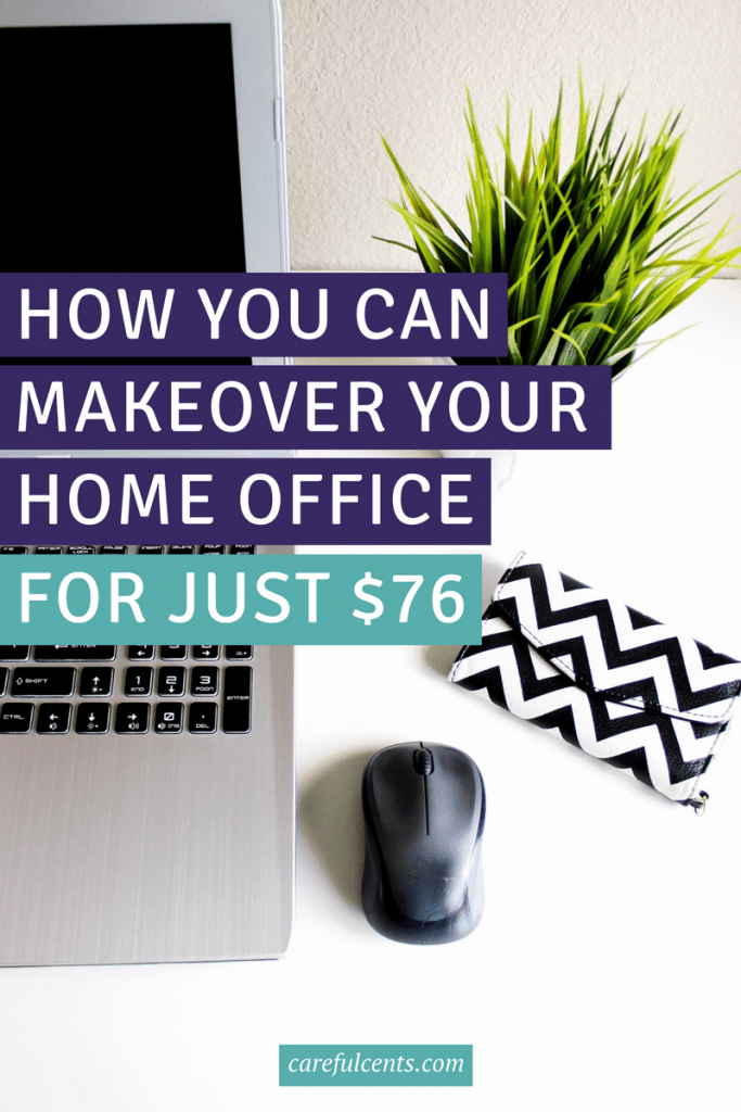 Makeover your home office on the cheap. Use these home decor ideas and see how I created my home office space for just $76 (with before and after pics)!