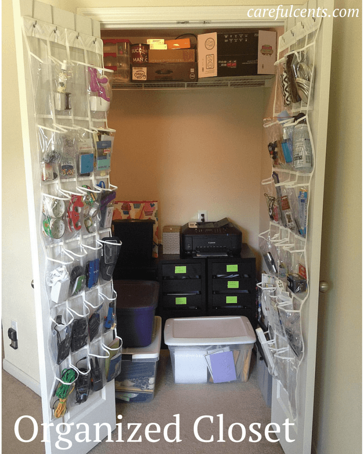 organized office closet. Exellent Closet Organized Closet  Home Office In Organized Office Closet