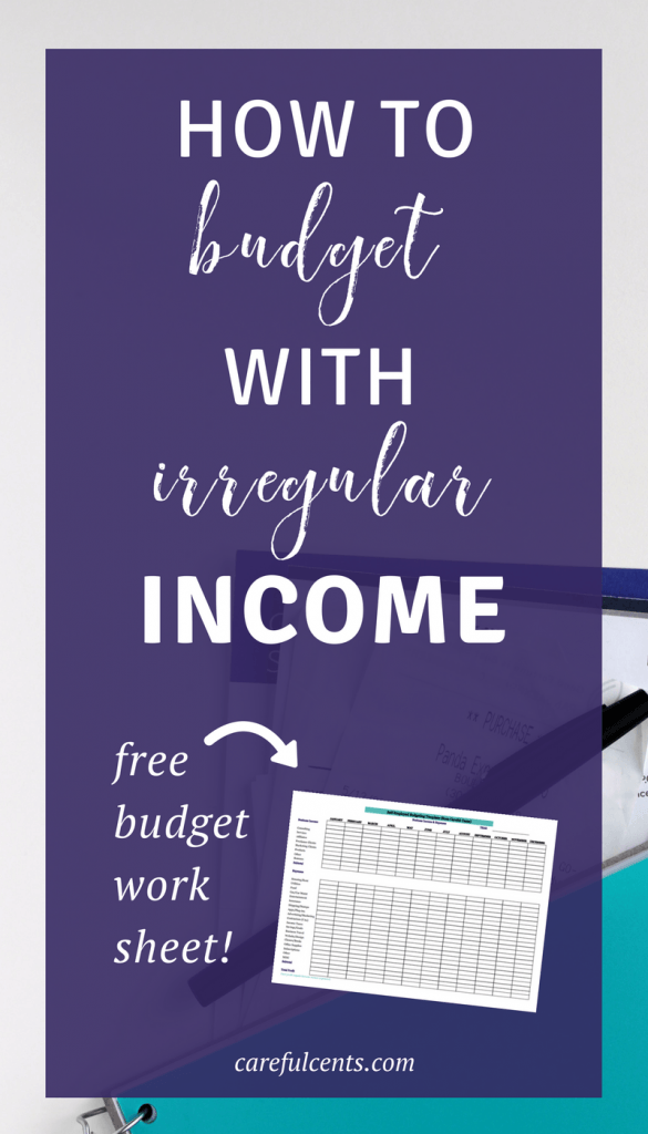 Learn how to budget with irregular income as a freelancer or business owner. This will help you avoid going broke when self-employed so you can stress less about money. Plus, get the free budget worksheet spreadsheet template!