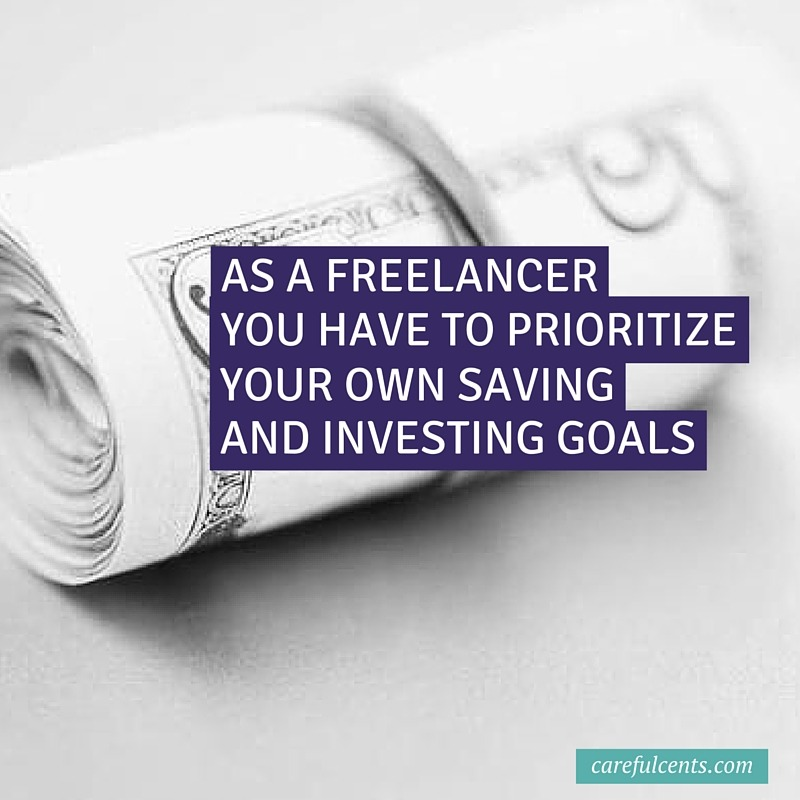 freelancer saving investing goals