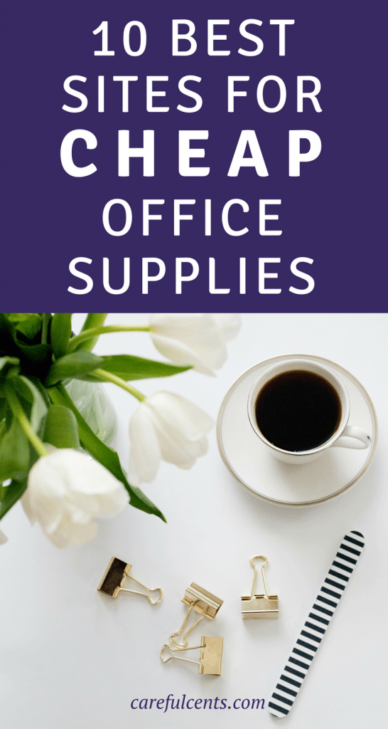 If you're looking for the best sites for cheap office supplies for your business or the back to school season, you've come to the right place! If you love office supplies as much as I do, you'll love this list of my top 10 sites to browse for your favorite pens, stationery, desk organizers and more!