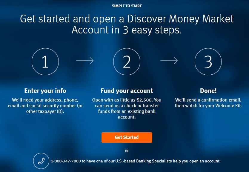 Discover Bank - Open a money market account